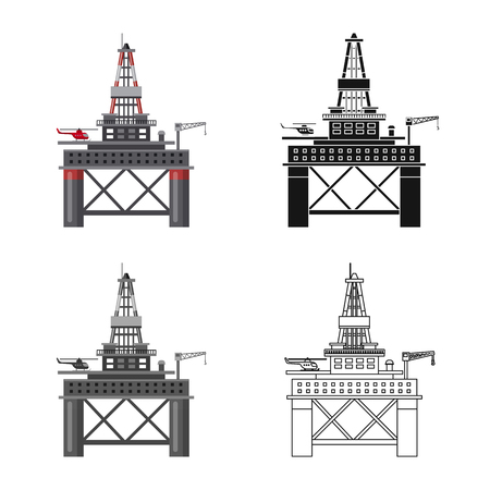 Vector illustration of oil and gas symbol. Collection of oil and petrol vector icon for stock.