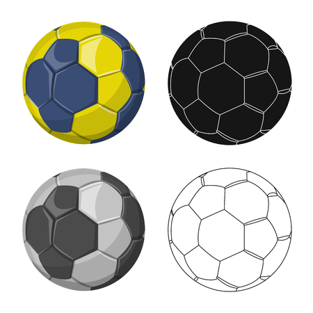 Isolated object of sport and ball symbol. Collection of sport and athletic stock vector illustration. Illustration