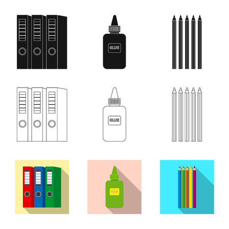 Isolated object of office and supply. Set of office and school vector icon for stock.