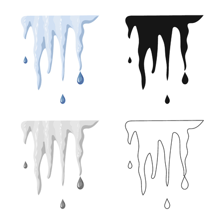 Isolated object of weather and climate sign. Set of weather and cloud vector icon for stock. Vecteurs