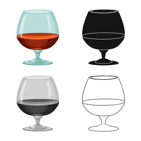 Ilustracja wektorowa znak drinka i bar. Zestaw napoju i partii wektor ikona na magazynie.