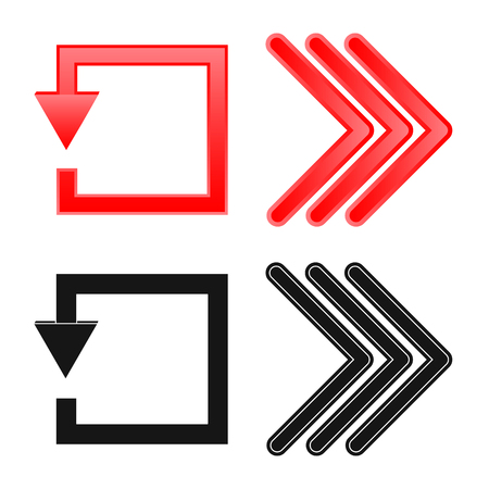 Vector design of element and arrow icon. Collection of element and direction vector icon for stock. Ilustrace