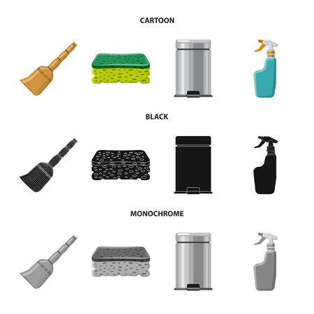 Vector illustration of cleaning and service. Collection of cleaning and household stock vector illustration.