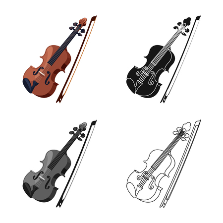 Isolated object of music and tune sign. Set of music and tool vector icon for stock. Banque d'images - 118075226