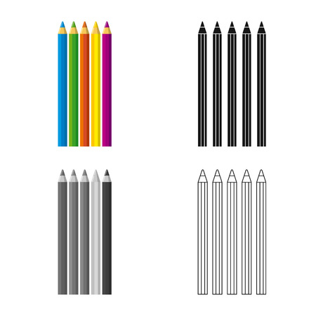 Vector illustration of office and supply icon. Collection of office and school vector icon for stock. Stock Illustratie