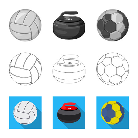 Vector illustration of sport and ball sign. Collection of sport and athletic stock symbol for web.