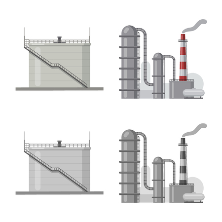Vector design of oil and gas icon. Collection of oil and petrol stock vector illustration.