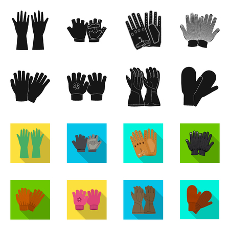 Isolated object of glove and winter. Collection of glove and equipment vector icon for stock.