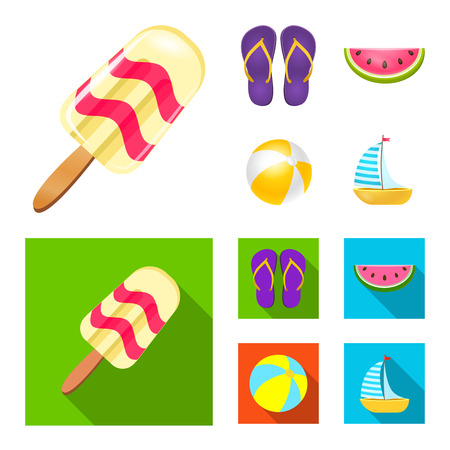 Isolated object of equipment and swimming icon. Set of equipment and activity stock vector illustration. Vektorgrafik