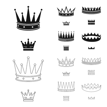Isolated object of medieval and nobility. Collection of medieval and monarchy stock symbol for web.