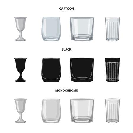 Vector illustration of form and celebration icon. Set of form and volume vector icon for stock.