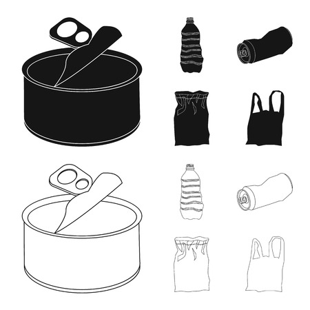 Vector design of dump and sort. Set of dump and junk vector icon for stock.