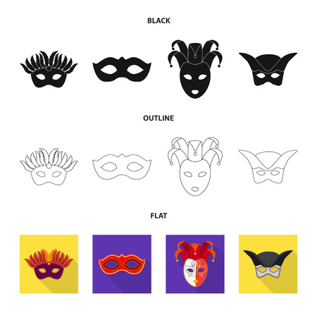 Vector design of luxury and celebration symbol. Set of luxury and hide  stock symbol for web. Çizim