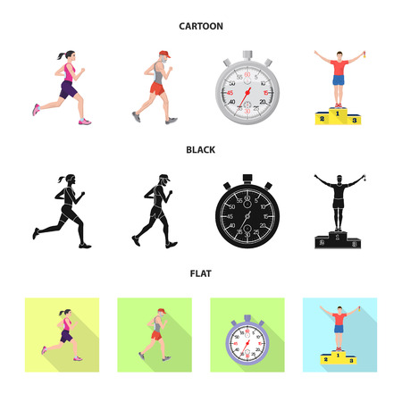 Vector illustration of sport  and winner icon. Collection of sport  and fitness  vector icon for stock. Illustration
