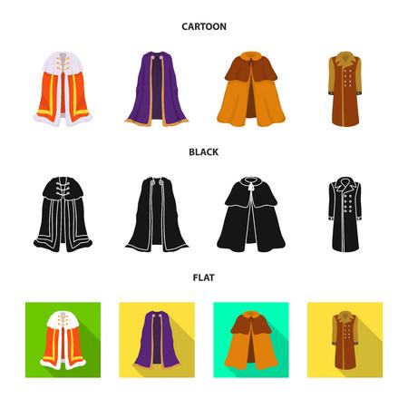 Illustration vectorielle du logo de matériel et de vêtements. Collection de matériel et symbole boursier de vêtement pour le web.