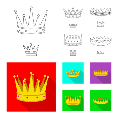 Vector design of medieval and nobility icon. Collection of medieval and monarchy stock symbol for web.