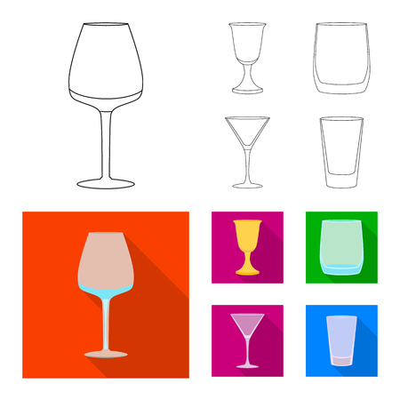 Vector illustration of form and celebration sign. Collection of form and volume stock symbol for web.