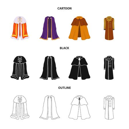 Objet isolé du logo du matériel et des vêtements. Ensemble de symbole boursier de matériel et de vêtement pour le web.