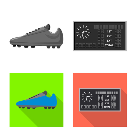 Vector illustration of soccer and gear. Set of soccer and tournament vector icon for stock.