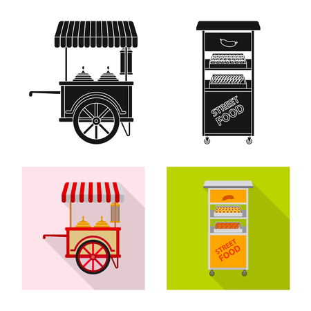 Isolated object of market and exterior symbol. Collection of market and food stock symbol for web. Illustration
