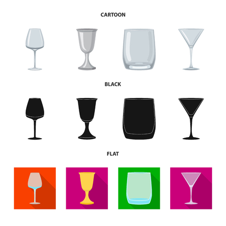 Vector illustration of form and celebration symbol. Collection of form and volume stock symbol for web.