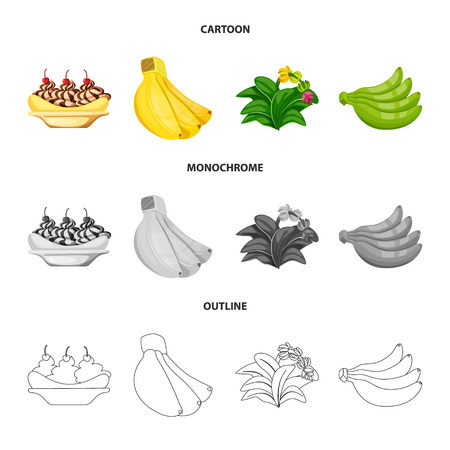 Isolated object of natural and vegetarian sign. Set of natural and eating stock symbol for web.
