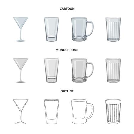 Vector design of form and celebration sign. Set of form and volume stock symbol for web. Ilustração