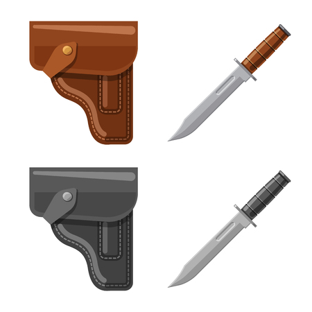 Isolated object of weapon and gun sign. Set of weapon and army stock vector illustration.