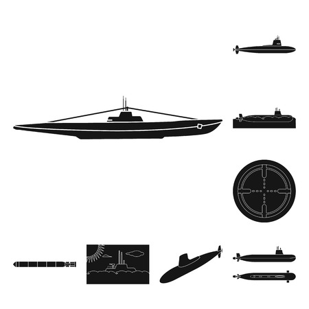 Vector design of technology  and fleet sign. Collection of technology  and navy stock vector illustration.