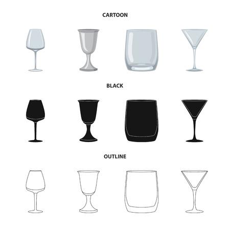 Vector design of form and celebration logo. Set of form and volume stock vector illustration. Ilustração