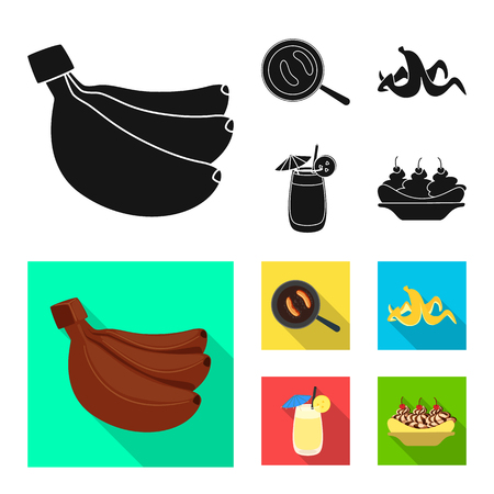 Isolated object of natural and vegetarian. Collection of natural and eating vector icon for stock.