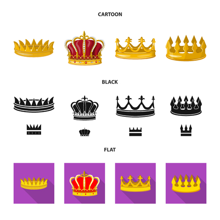 Isolated object of medieval and nobility logo. Set of medieval and monarchy vector icon for stock.