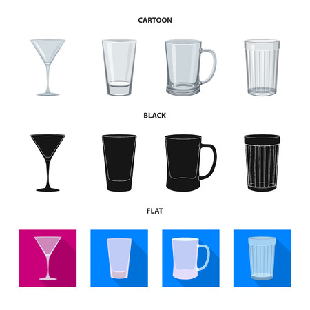 Vector illustration of form and celebration logo. Collection of form and volume vector icon for stock. Ilustração