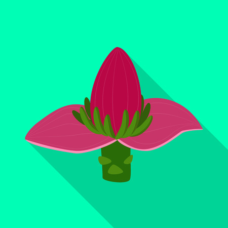 Vector design of banana and flower sign. Collection of banana and tropic vector icon for stock.
