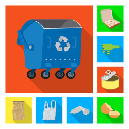 Isolated object of dump and sort icon. Collection of dump and junk stock vector illustration.