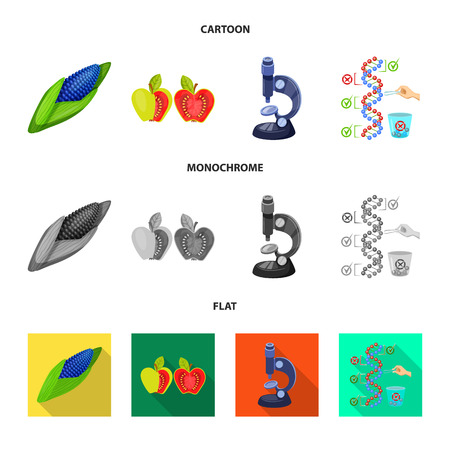Vector illustration of test and synthetic. Collection of test and laboratory vector icon for stock. 矢量图像