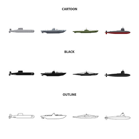 Vector design of war  and ship. Collection of war  and fleet vector icon for stock.