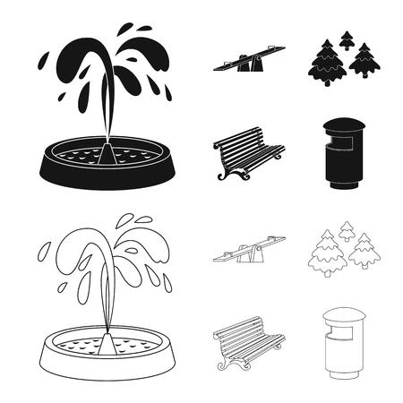 Illustrazione vettoriale dell'icona urbana e stradale. Set di illustrazione vettoriali stock urbano e relax.