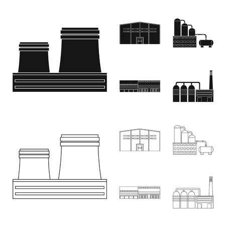 Vector design of production and structure symbol. Collection of production and technology vector icon for stock.
