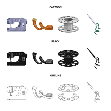 Vector illustration of craft and handcraft. Collection of craft and industry stock symbol for web. Illustration