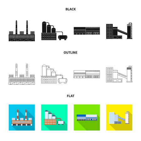 Vector illustration of production and structure logo. Set of production and technology stock vector illustration.