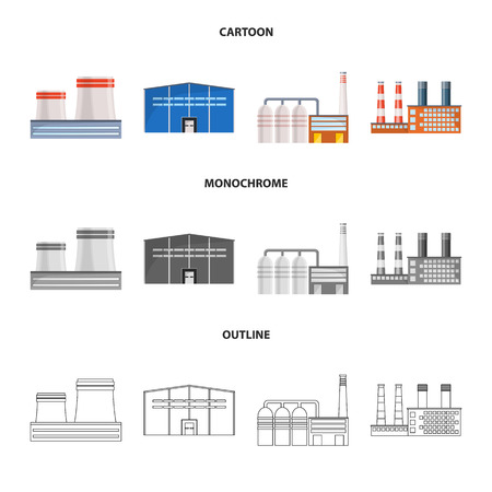 Vector illustration of production and structure symbol. Collection of production and technology stock vector illustration.