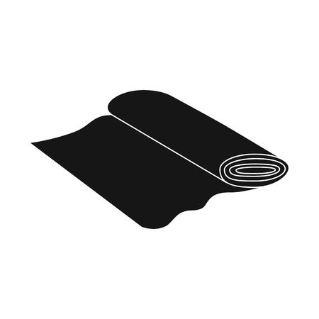 Vector illustration of fabric and roll logo. Collection of fabric and cloth vector icon for stock. Illustration