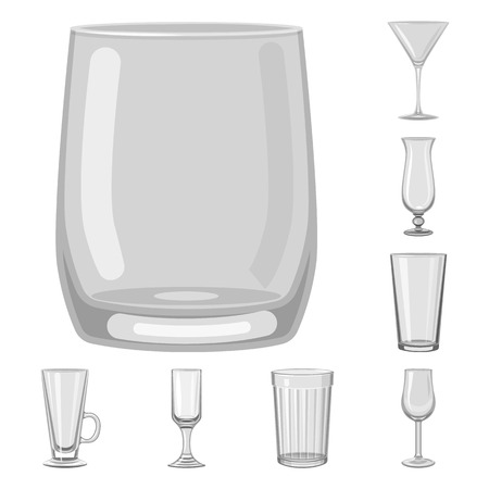 Isolated object of capacity and glassware logo. Collection of capacity and restaurant stock symbol for web.