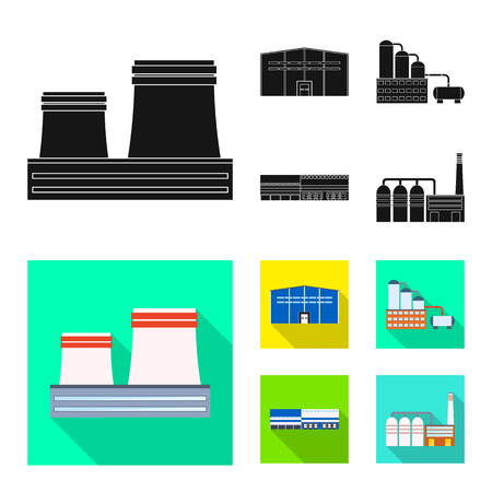 Isolated object of production and structure icon. Set of production and technology vector icon for stock. Reklamní fotografie - 124290325
