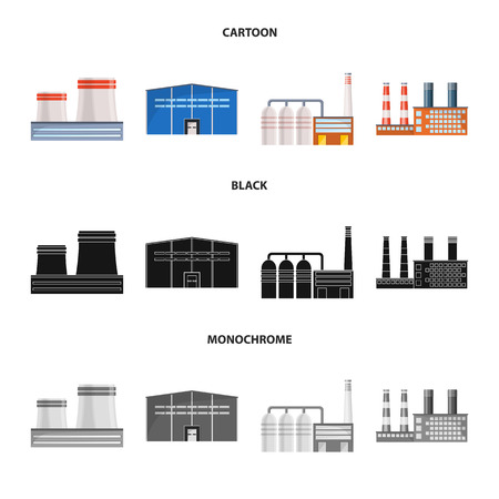 Vector design of production and structure logo. Set of production and technology stock vector illustration.