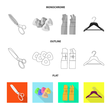 Vector design of craft and handcraft icon. Set of craft and industry stock symbol for web.