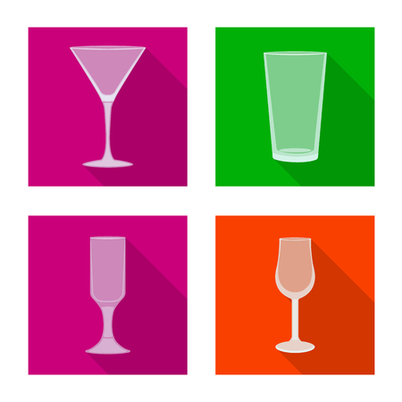 Vector illustration of drinks and restaurant icon. Collection of drinks and celebration stock vector illustration. Ilustração
