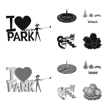 Isolated object of urban and street logo. Set of urban and relaxation vector icon for stock. Stock Illustratie