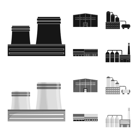 Vector design of production and structure sign. Collection of production and technology vector icon for stock.